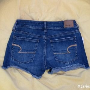 Women's American Eagle Blue Jean Shortie Shorts